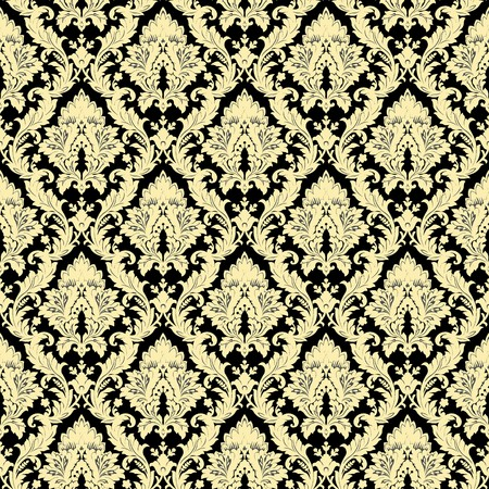 Seamless damask pattern photo