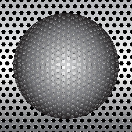 ball of metal background photo