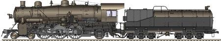 Ilustracja wektora starych lokomotywy Zdjęcie Seryjne - 8209707