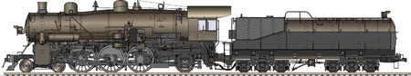 footplate: vector illustration of old locomotive Illustration
