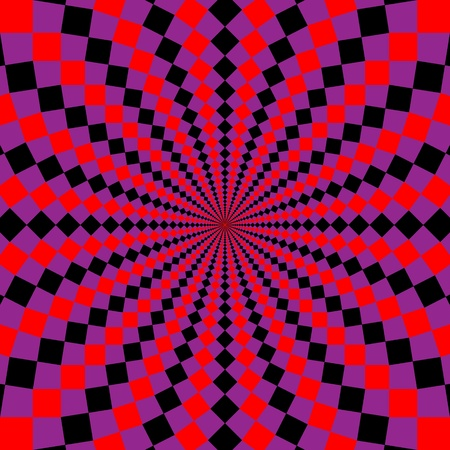 psychedelic: optical illusion.  Stock Photo