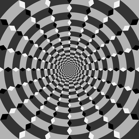 hypnosis: vector optical art