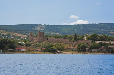 genoese: Genoese fortress in the town of Feodosia, Crimea, Ukraine