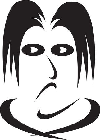 emoties van het menselijke gezicht-envy Vector Illustratie