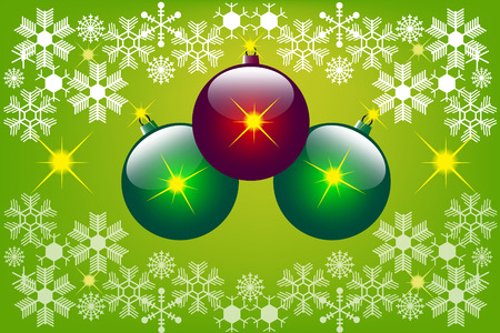 christmas background with christmas balls. Vector