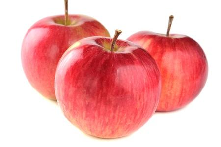 image created 21st century: three ripe red apple