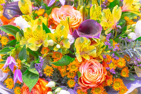 a bouquet of different bright colors.