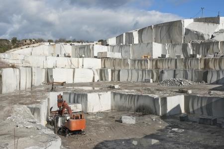 granite quarry located on cadalso de los vidrios madrid province  Stock Photo - 13827940