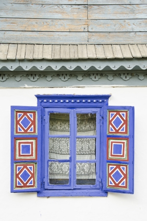 detail of a typical window of Romania