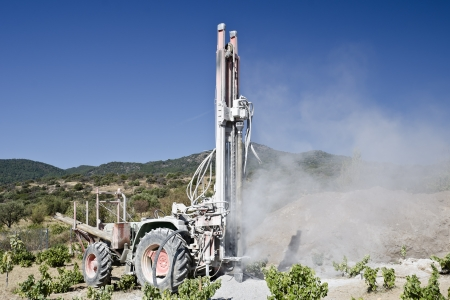drilling well: construction of a well for irrigation