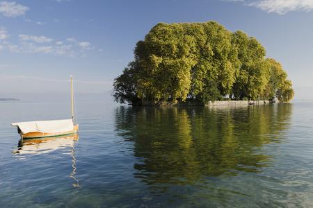 Harpe Insel am Genfer See in Rolle, Schweiz