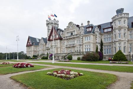 santander: facade of the Palace of the Magdalena in Santander, Spain Editorial