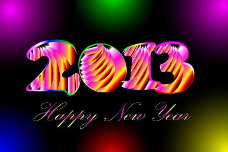 Happy New Year 2013 Ilustração