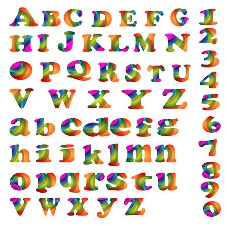 Collection of Vector Alphabet Vibrant designs