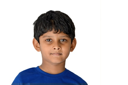 Asian Indian Boy of 6 years age smiling Imagens