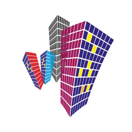 Vector Illustration of High raise building and can be used as background and logo design Ilustração
