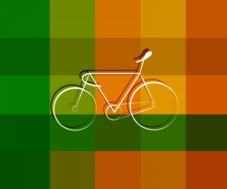 bicycle lane: Vector image of Soprts Bicycle symbol design on texture background