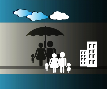 illustration of secure family from house loan