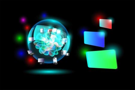 Cloud Computing network Imagens - 21493035