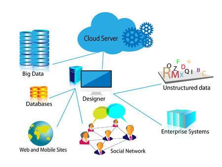 Concept de Big Data Illustration