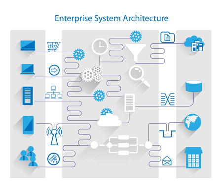 Good Enterprise System Architecture Stock Photo   43704255