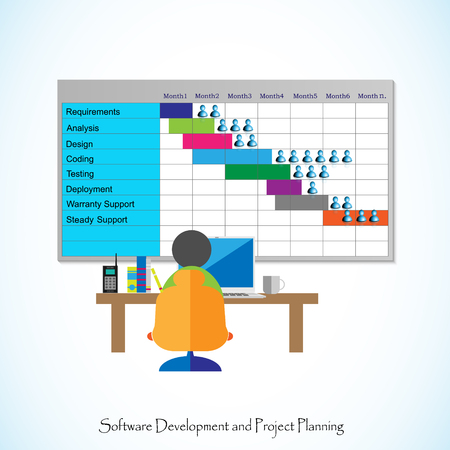 Software Development life cycle and project planning. Imagens - 73527292