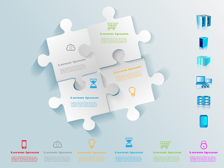 Technology Puzzle Infographics