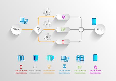 Business process infographics Ilustração