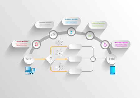 Business process infographics Illustration