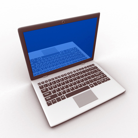 Laptop 3d Model isolated Imagens
