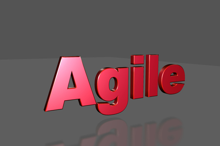 Agile text in 3D Stock Photo