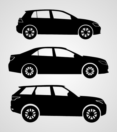 bolid: Silhouette cars on a white background. Vector illustration.