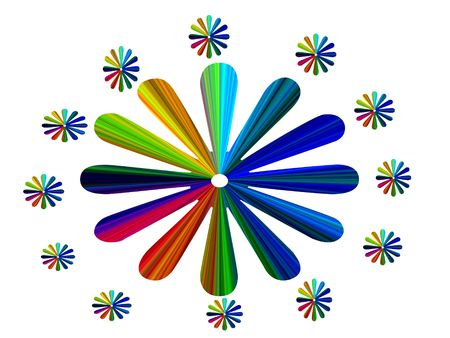 Flower color wheel illustration  Stock Photo