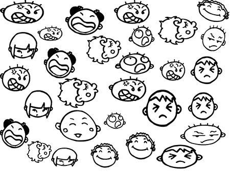 Faces illustration  Stok Fotoğraf
