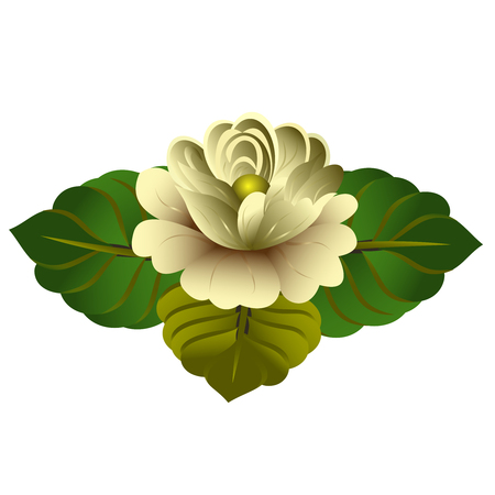 Vector clipart Yellow Flower. A hand-drawn image for insertion into a document, a website, a presentation, etc.