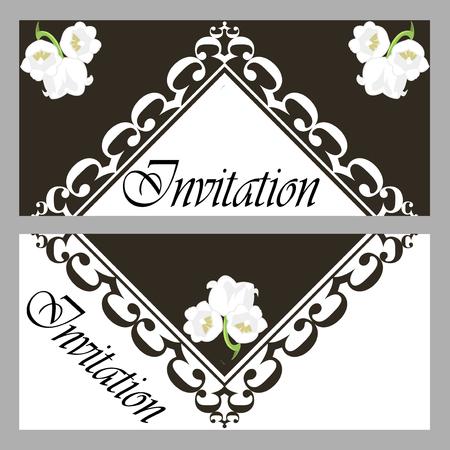 Vector graphics Colorful Invitation Card Ilustracja