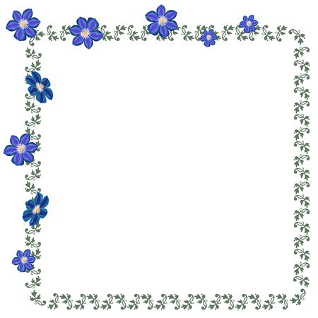 Vector Colorful Decorative Frame. A hand-drawn image for insertion into a document, a website, a presentation, etc.