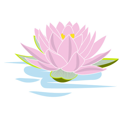 Vector clipart Lotus. A hand-drawn image for insertion into a document, a website, a presentation, for desktop and just for the soul.
