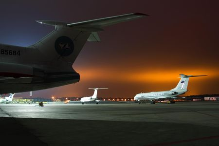 aerodrome: Aircrafts on take-off field. �������� �� �������� ����.