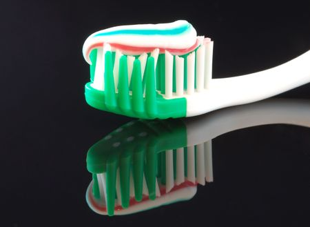 dentalcare: Toothbrush and paste
