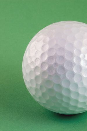 Golf ball waiting to be hit hard!! Stock Photo