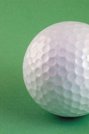 Golf ball waiting to be hit hard!! Stock Photo