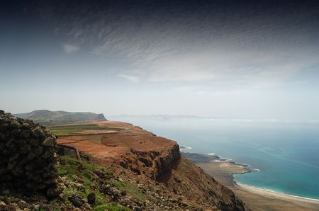 Part of the spectacular coast of Northern Lanzarote