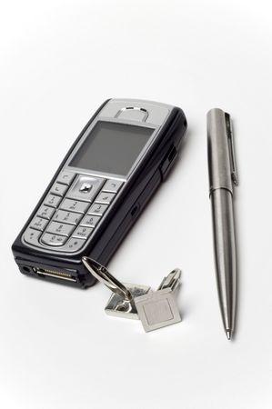 A phone, pen and cufflinks