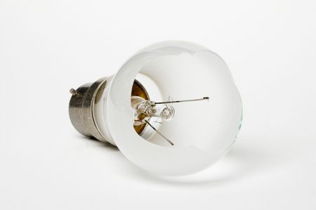 Bad idea concept with a broken lightbulb  Stock Photo