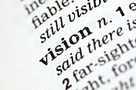 The word vision written in a thesaurus  Stock Photo