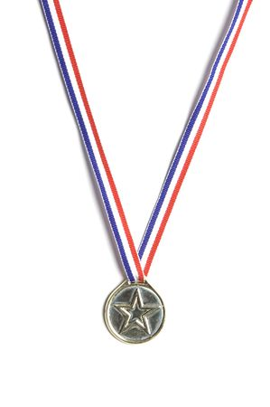 Gold medal shot against a white background symbolizing success