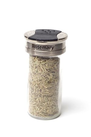 A Jar of Rosemary  isolated on a white backgorund