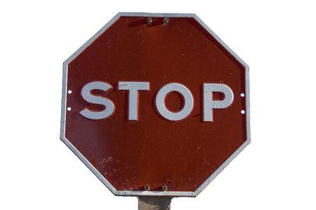 cease: Una fermata segno tiro contro uno sfondo bianco