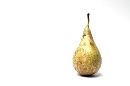 A pear shot against a white background with room for copy Stock Photo
